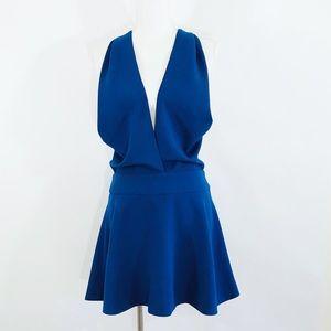 KEEPSAKE THE LABEL Royal Blue Twisted Back Dress